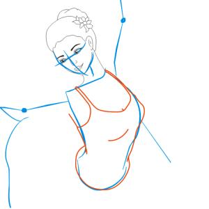 Как нарисовать балерину 20