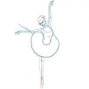 Как нарисовать балерину 24