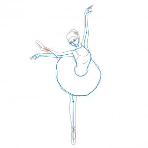 Как нарисовать балерину 25