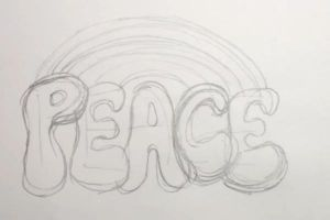 Как нарисовать граффити на бумаге 8
