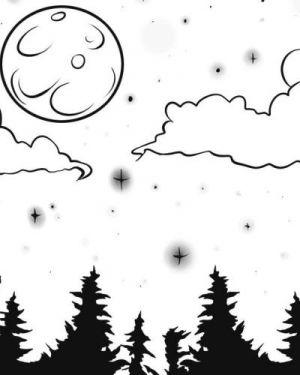 Как нарисовать луну 17