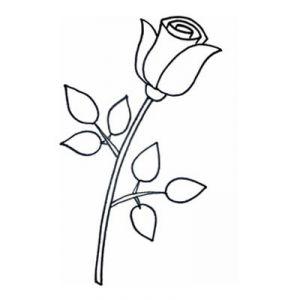 Как нарисовать поэтапно розу 7