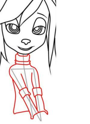 Как нарисовать Розу Барбоскину 6