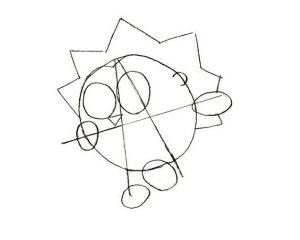 Рисунки по клеточкам девушка в тетради