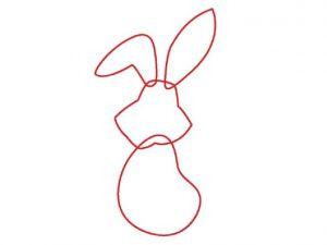 как нарисовать зайца поэтапно 1