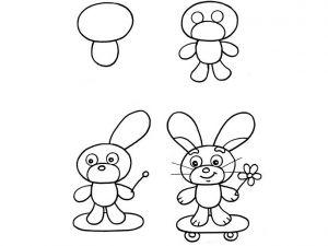 как нарисовать зайца поэтапно 6