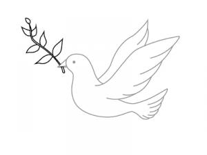 Как поэтапно нарисовать карандашом голубя детям 11