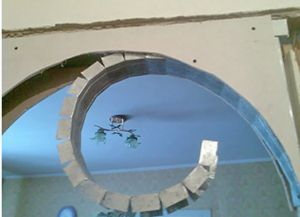 Как сделать арку в дверном проеме