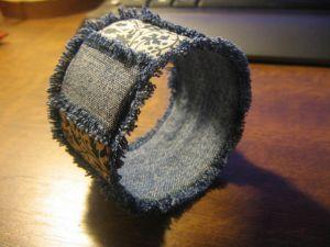 как сделать браслет из ткани9