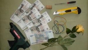 как сделать букет из денег 1