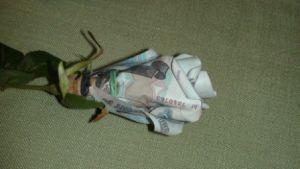 как сделать букет из денег10