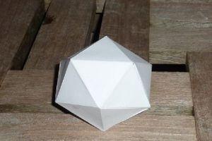 как сделать икосаэдр из бумаги12