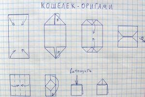 как сделать из бумаги кошелек3
