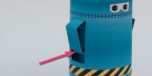 как сделать из бумаги робота 12
