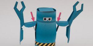 как сделать из бумаги робота 17