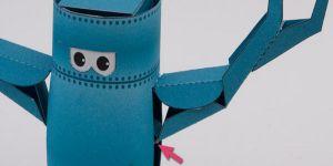 как сделать из бумаги робота 18