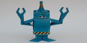 как сделать из бумаги робота 20