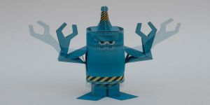 как сделать из бумаги робота 21