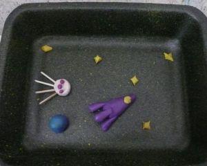как сделать ракету из пластилина 10