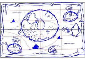 Пиратская карта своими руками фото 930