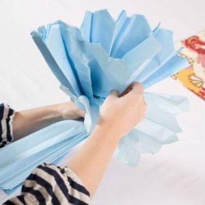 как сделать помпоны из бумаги5