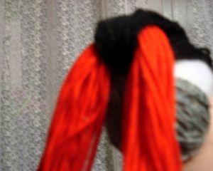 как сделать птичку из ниток 9
