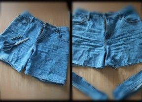 Как сделать рваные шорты 10