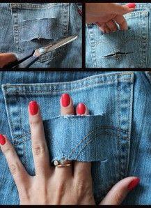Как сделать рваные шорты 11