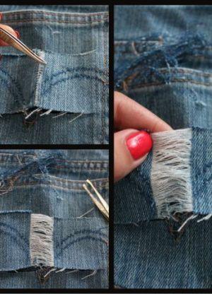 Как сделать рваные шорты 12