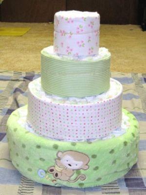 как сделать торт из памперсов10