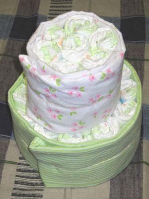 как сделать торт из памперсов7
