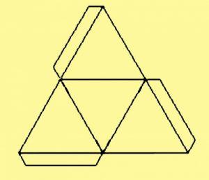как из бумаги сделать тетраэдр21