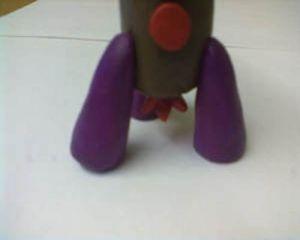 как сделать ракету из пластилина 6