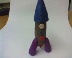 как сделать ракету из пластилина 7