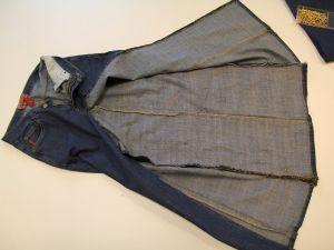 как сшить юбку из джинсов11