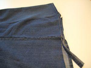 как сшить юбку из джинсов19