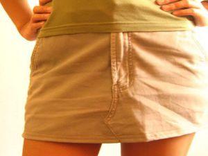 как сшить юбку из джинсов28