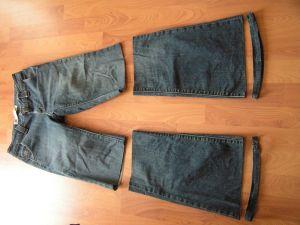 как сшить юбку из джинсов30