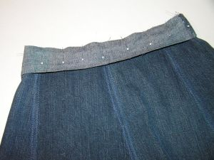 как сшить юбку из джинсов34