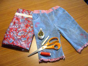 как сшить юбку из джинсов41
