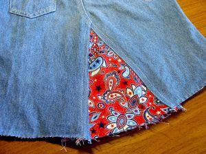 как сшить юбку из джинсов48