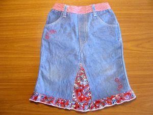 как сшить юбку из джинсов50