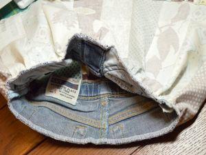 как сшить юбку из джинсов55