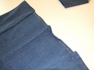 как сшить юбку из джинсов8