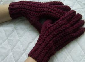 как связать перчатки спицами 12