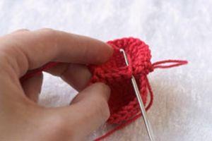 как связать сердечко крючком 2