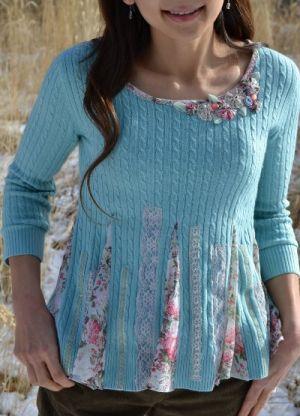 как украсить свитер своими руками17