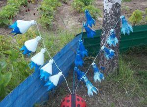 колокольчики из пластиковых бутылок4