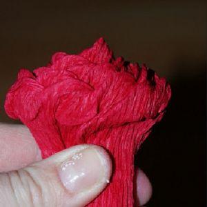 Розы из гофрированной бумаги12
