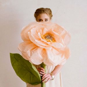 Розы из гофрированной бумаги16